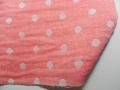 [Gauze]春夏綿紗の着物「水玉もよう/パステルレッド」