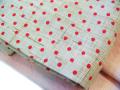 手織り麻布「小紋名古屋帯/点々」