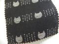 先染木綿[cats/1860G/ブラック]