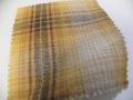 先染木綿「カラフルチェック/イエロー」1770A