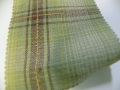 先染木綿「カラフルチェック/グリーン」1770B