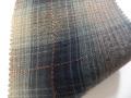 先染木綿「カラフルチェック/ネイビー」1770G