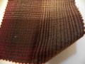先染木綿「グラデーションチェック/ブラウン」1680F