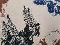 コットン&リネン羽織「アートフラワーNo10」