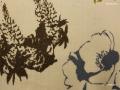 コットン&リネン羽織「アートフラワーNo20」