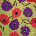 JapanTextileCotton「Gerbera」No.30Grass Color