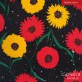 JapanTextileCotton「Gerbera」No.10Black