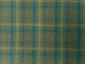 (先染)木綿着物「二重弁慶格子」Color.E(麹塵)