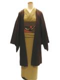 先染織木綿着物「Kasuri Pindot」&「UROKO/羽織」
