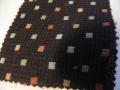 先染木綿着物「どろっぷ/ブラック」color.E