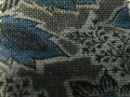 木綿和更紗「草花文様/青色(6258)」
