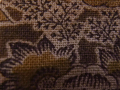 木綿和更紗「草花文様/茶色(6259)」