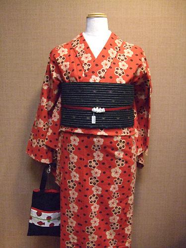 CE木綿着物「SUMOMO」単仕立て