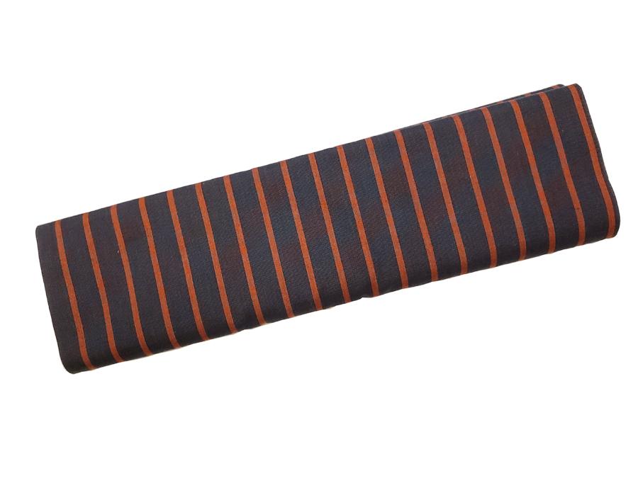 唐桟縞colorJ:消炭色・臙脂/棒縞