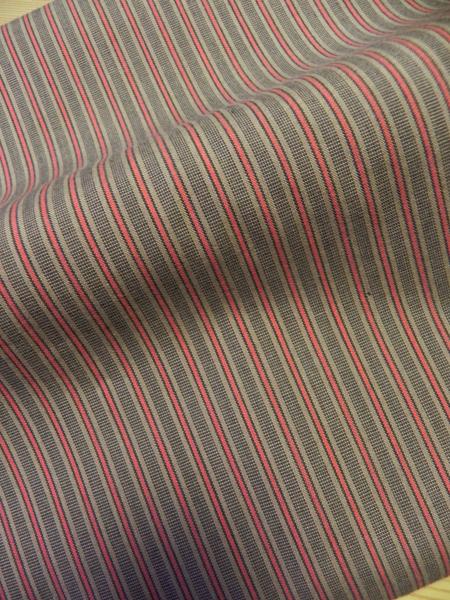 唐桟縞木綿「茶/赤」