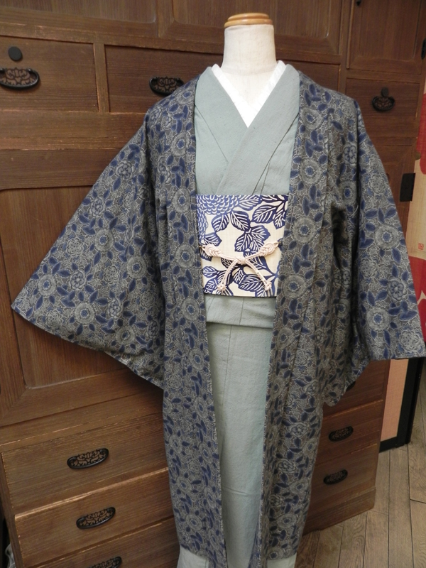 木綿和更紗羽織「草花文様」